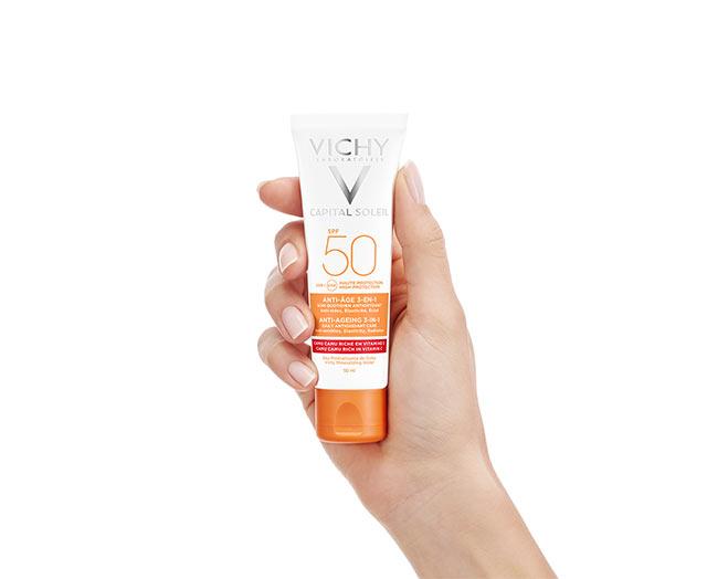 Yüksek Korumalı Yaşlanma Karşıtı Güneş Yüz Bakım Kremi - SPF 50 (UVA+UVB)